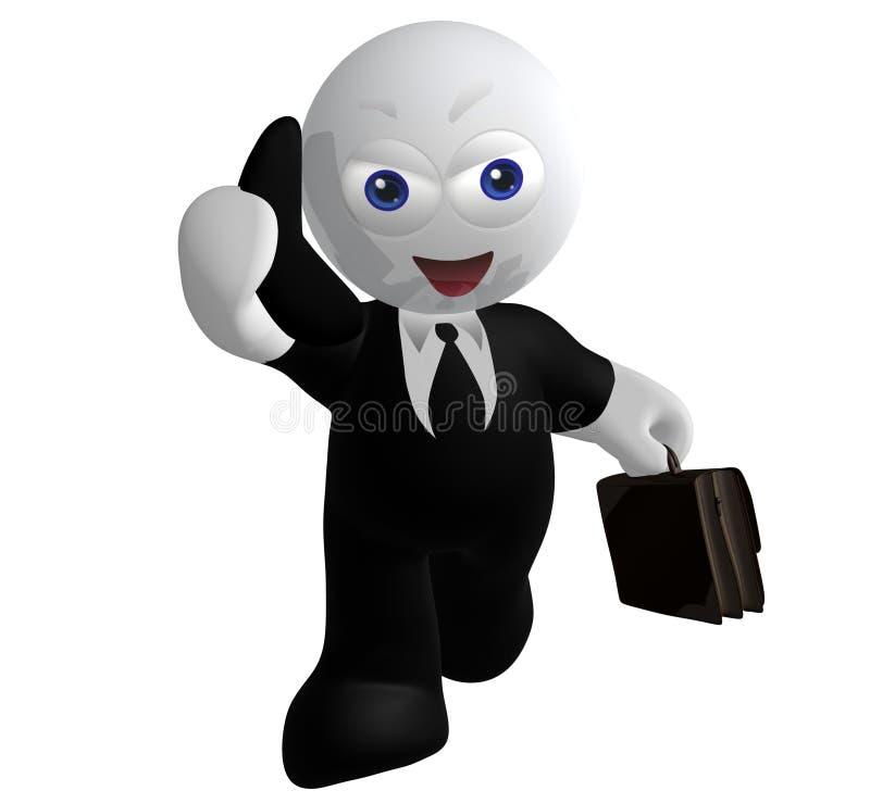 Het pictogram van de zakenman op de telefoon royalty-vrije illustratie