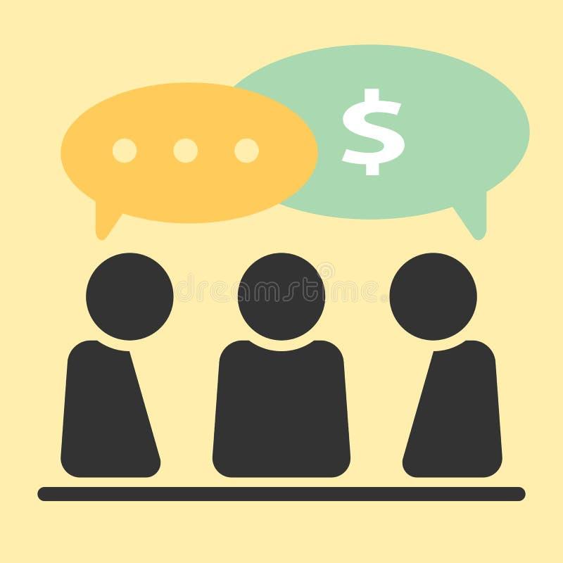 Het pictogram van de zakenmanonderhandeling Abstract bedrijfsconcept stock illustratie