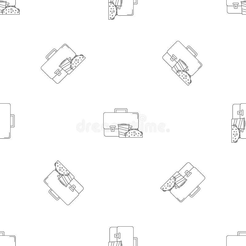 Het pictogram van de zakkola cheesburger, overzichtsstijl royalty-vrije illustratie