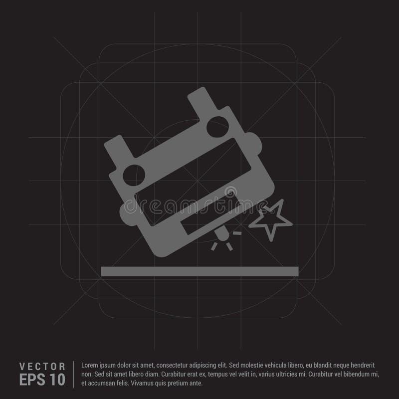 Het pictogram van de ziekenwagenneerstorting stock illustratie