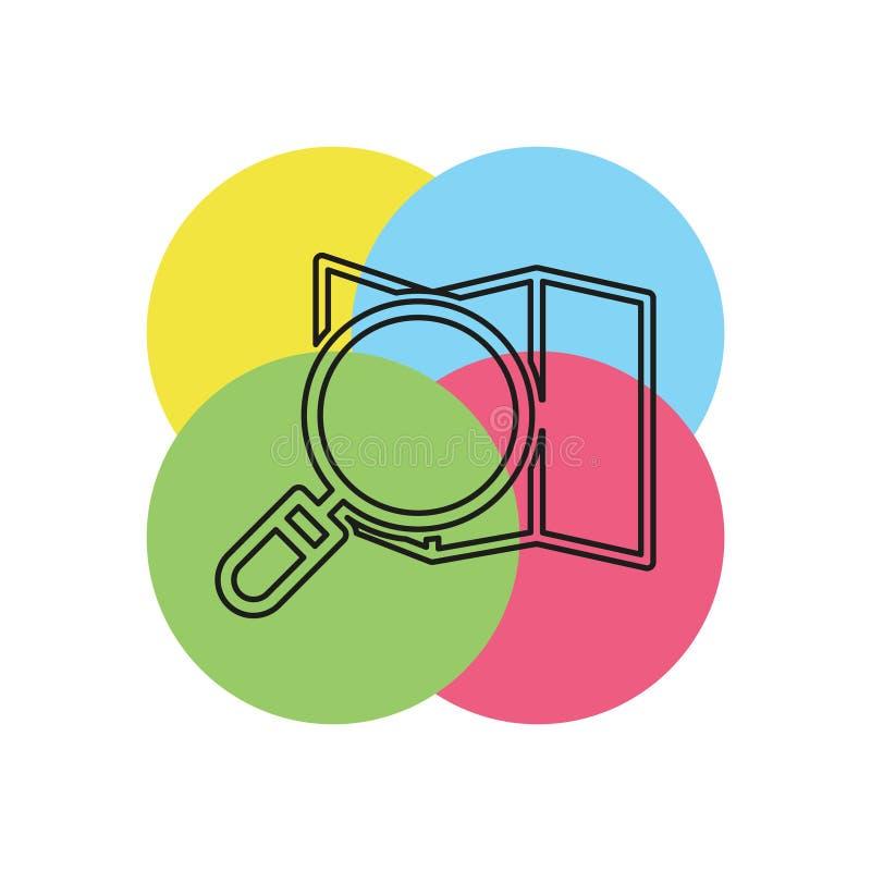 Het pictogram van de Zoekenkaart - vectorplaatsspeld stock illustratie