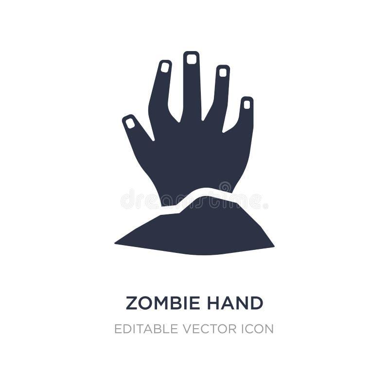 het pictogram van de zombiehand op witte achtergrond Eenvoudige elementenillustratie van Halloween-concept vector illustratie