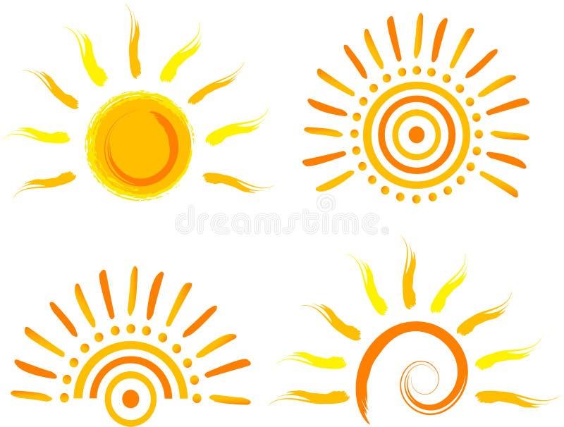 Het pictogram van de zon