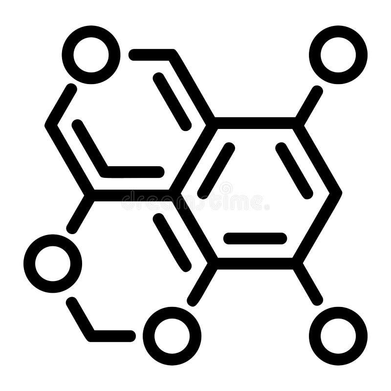 Het pictogram van de zuurstofformule, overzichtsstijl stock illustratie
