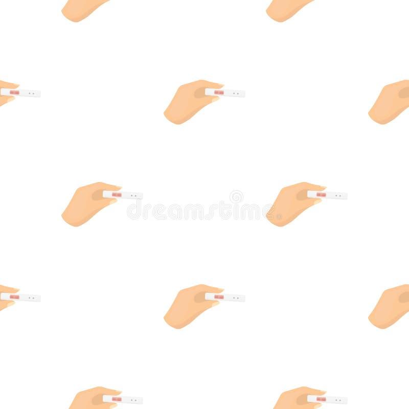 Het pictogram van de zwangerschapstest in beeldverhaalstijl op witte achtergrond wordt geïsoleerd die De voorraad vectorillustrat royalty-vrije illustratie