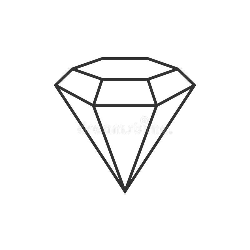 Het pictogram van het diamantoverzicht vector illustratie