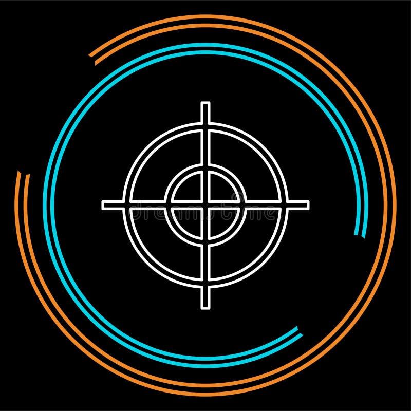 Het pictogram van het doeldoel, de pijl van de doelnadruk, marketing doel vector illustratie