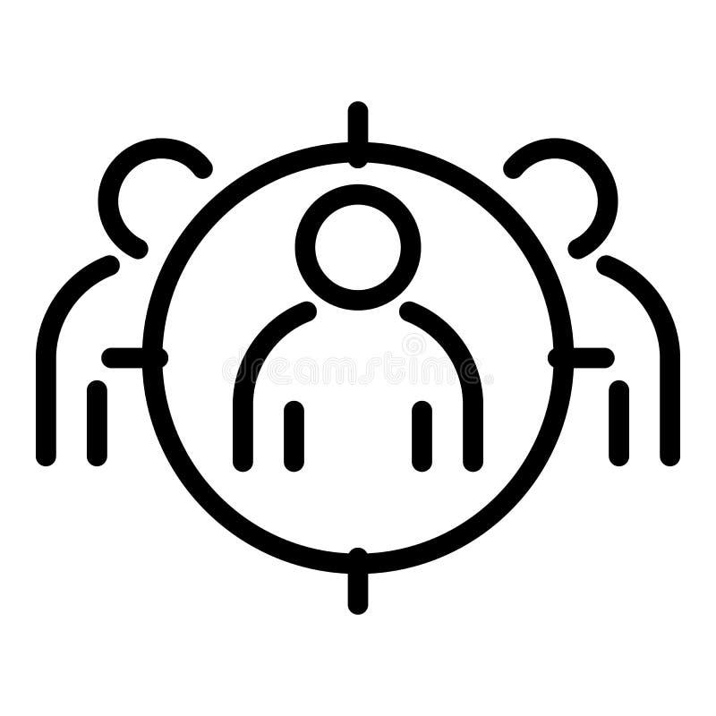 Het pictogram van het doelpubliek, overzichtsstijl royalty-vrije illustratie