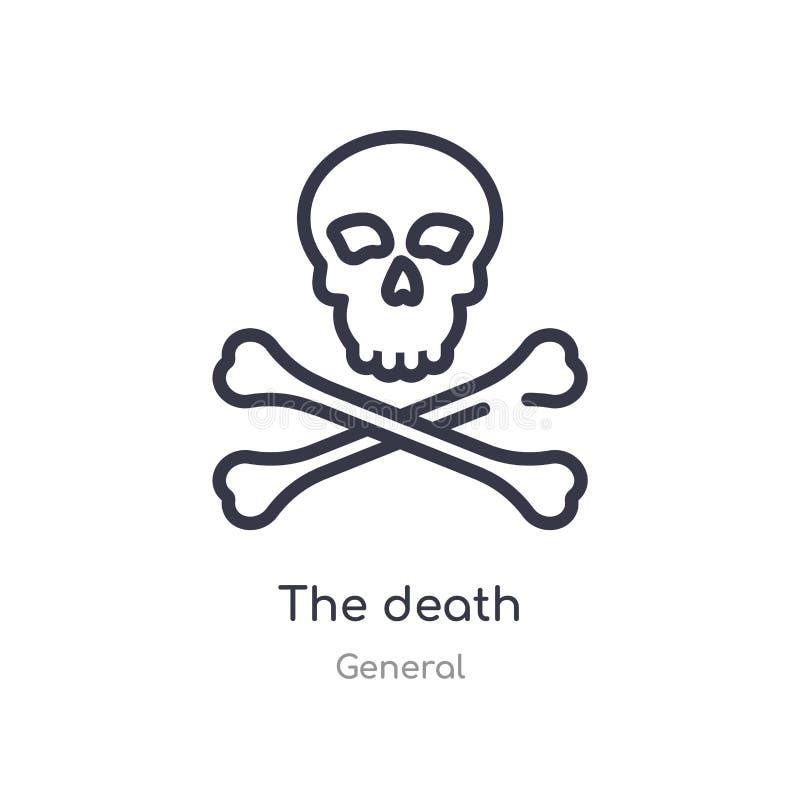 het pictogram van het doodsoverzicht ge?soleerde lijn vectorillustratie van algemene inzameling editable dunne slag het doodspict vector illustratie