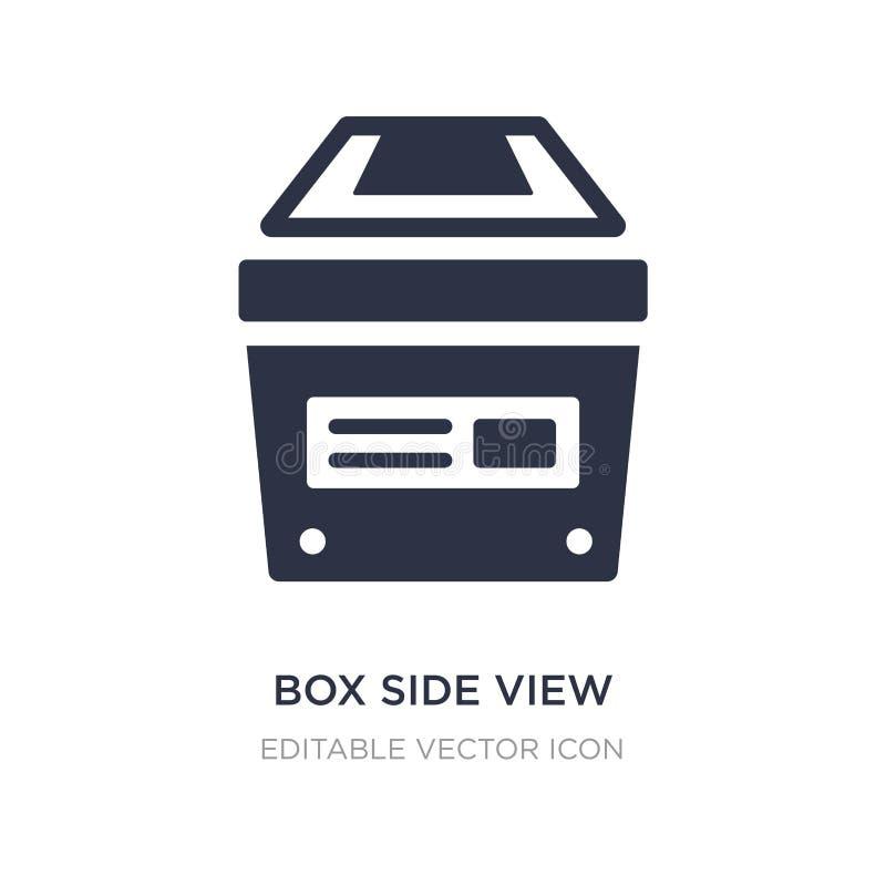 het pictogram van het doos zijaanzicht op witte achtergrond Eenvoudige elementenillustratie van Algemeen concept vector illustratie