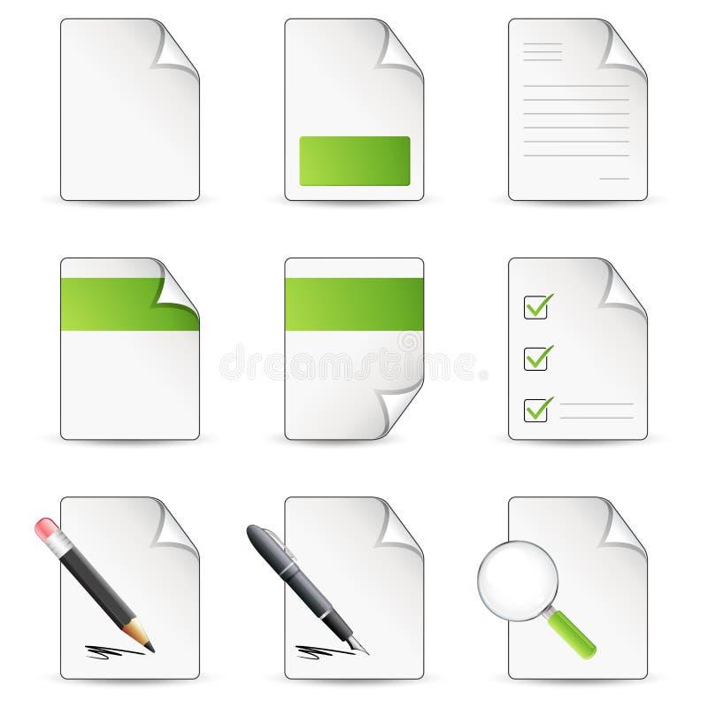 Het pictogram van dossiers stock illustratie