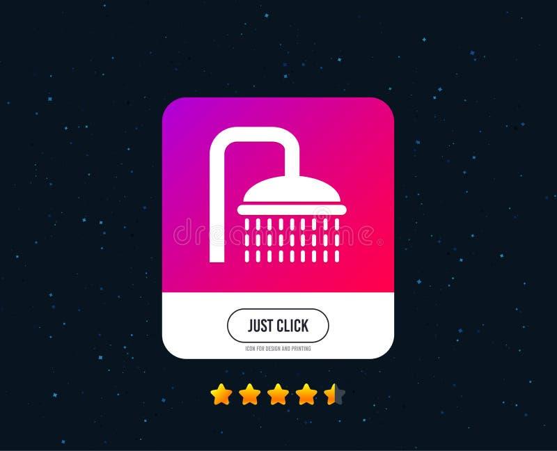Het pictogram van het doucheteken Irrigatie met het symbool van waterdalingen Vector stock illustratie