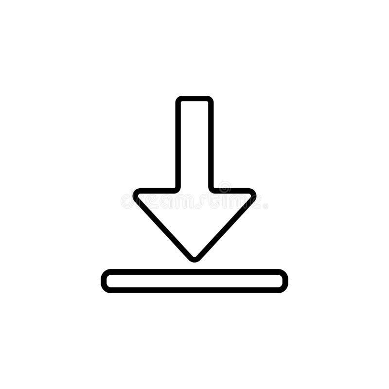 het pictogram van het downloadsymbool Element van eenvoudig pictogram voor websites, Webontwerp, mobiele app, informatiegrafiek D royalty-vrije illustratie