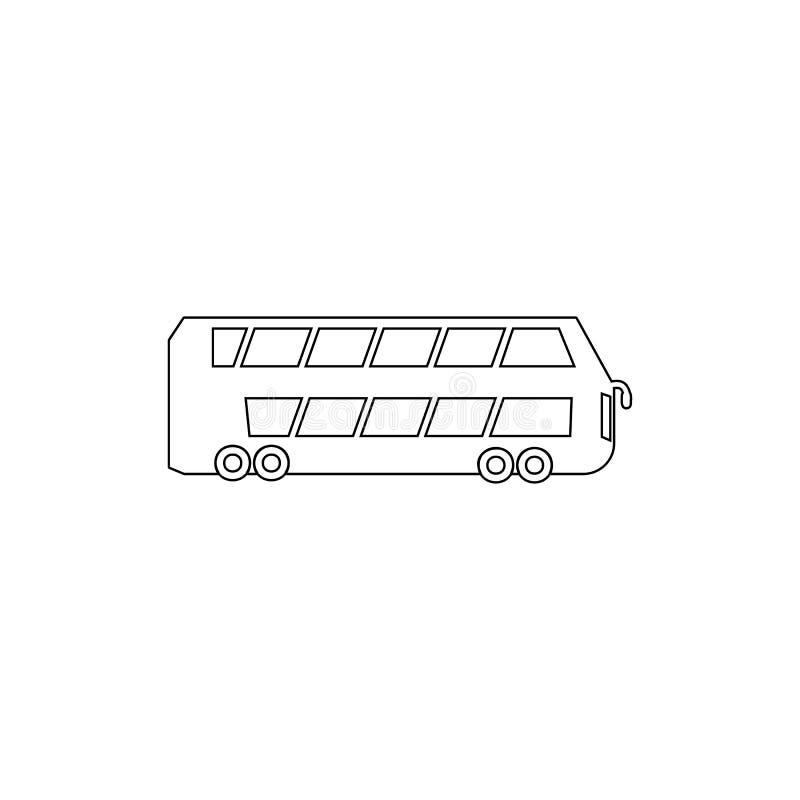 het pictogram van het dubbeldekkeroverzicht Element van autotype pictogram Grafisch het ontwerppictogram van de premiekwaliteit T royalty-vrije illustratie