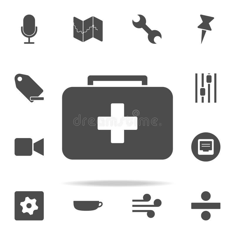 het pictogram van het eerste hulpjonge geitje voor Web wordt geplaatst dat en het mobiele algemene begrip van Webpictogrammen vector illustratie