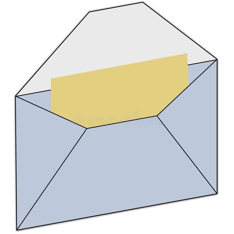Het pictogram van Enveloppe vector illustratie