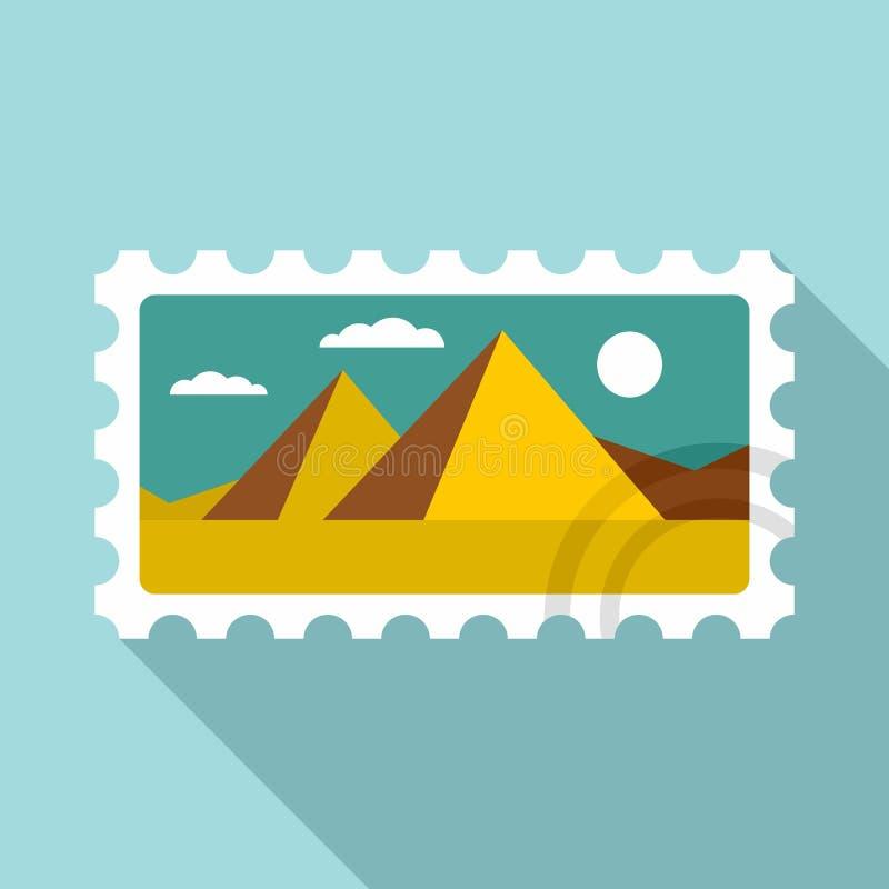 Het pictogram van het enveloptimbre, vlakke stijl stock illustratie