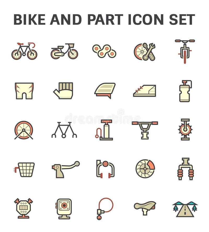 Het pictogram van het fietsdeel vector illustratie