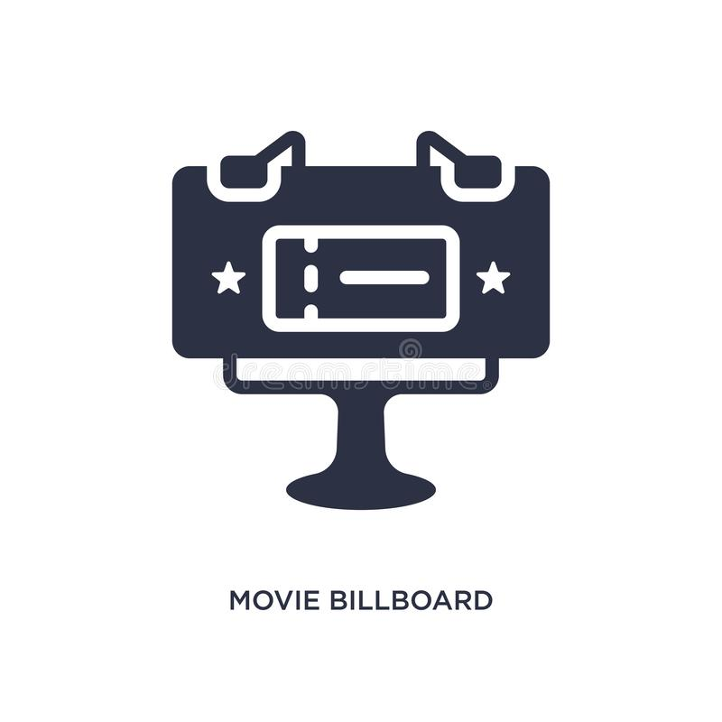 het pictogram van het filmaanplakbord op witte achtergrond Eenvoudige elementenillustratie van Bioskoopconcept royalty-vrije illustratie