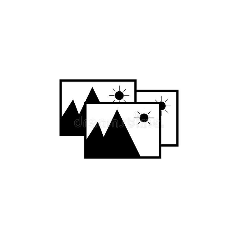 Het pictogram van het fotoarchief Vector stock illustratie