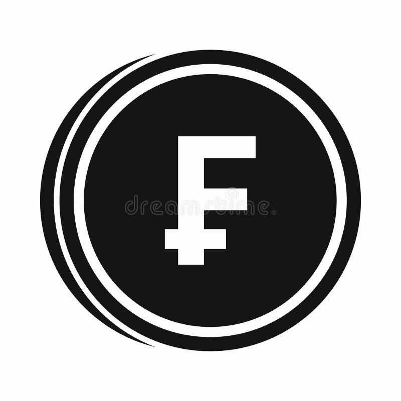 Het pictogram van frankmuntstukken, eenvoudige stijl stock illustratie