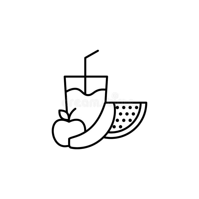 het pictogram van het fruitoverzicht Element van het pictogram van de levensstijlillustratie Het grafische ontwerp van de premiek royalty-vrije illustratie