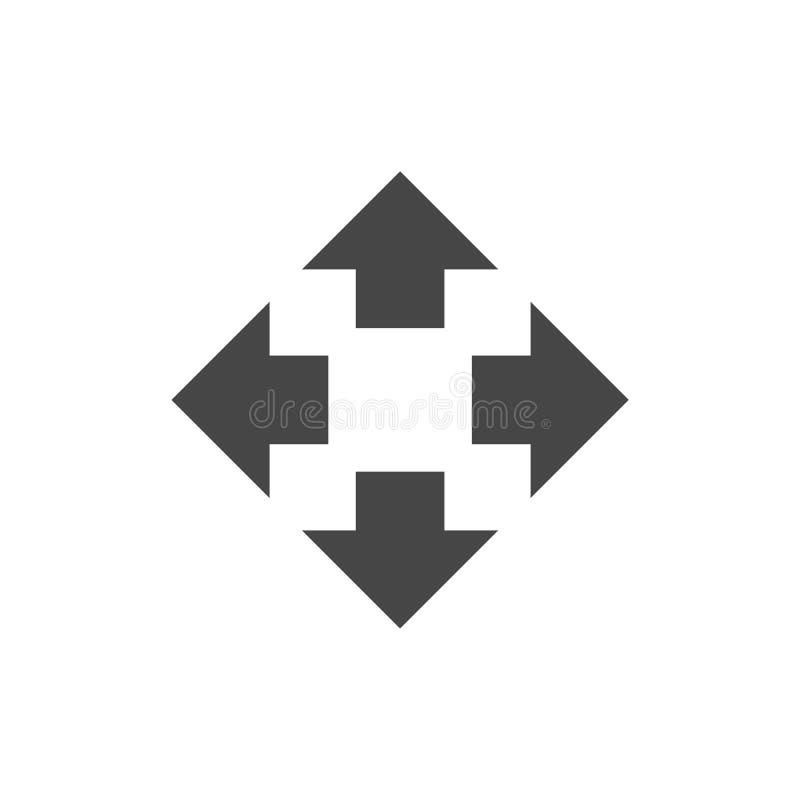 Het pictogram van het Fullscreenteken stock illustratie