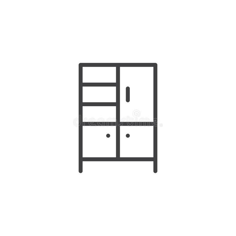 Het pictogram van het garderobeoverzicht stock illustratie