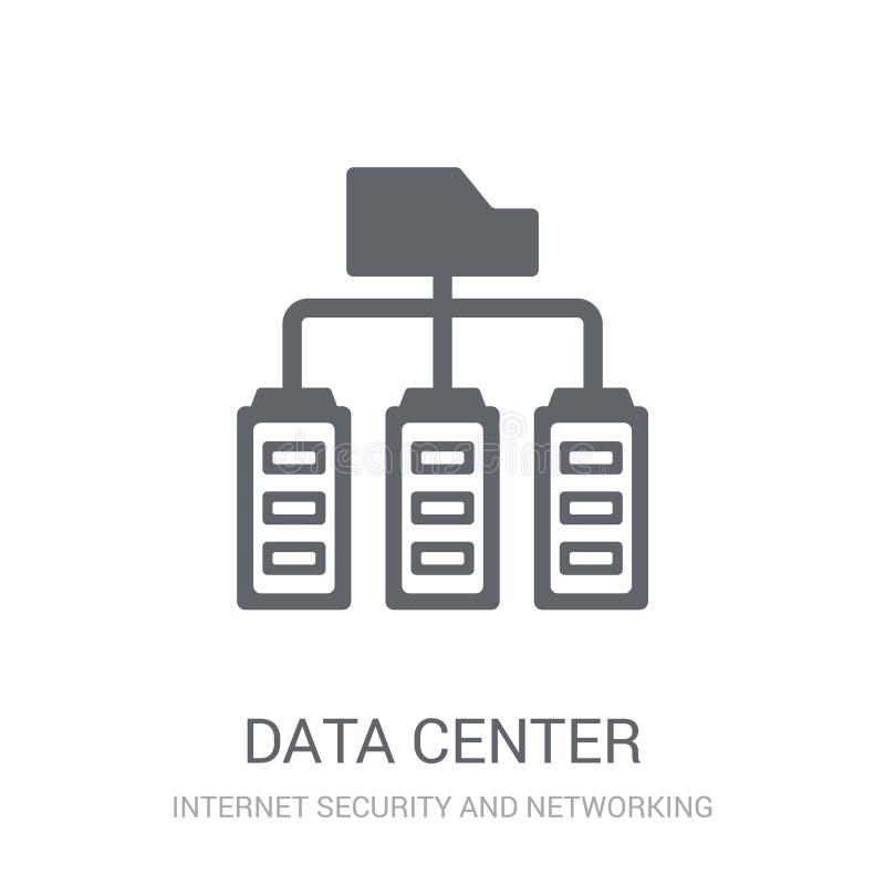 Het pictogram van het gegevenscentrum  royalty-vrije illustratie