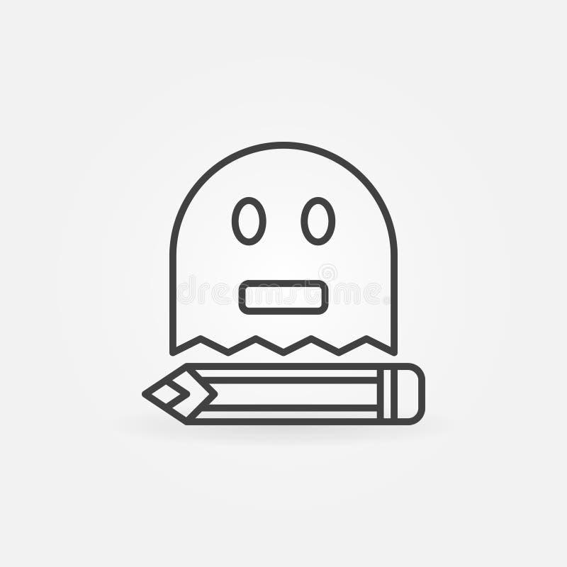 Het pictogram van het Ghostwritingsoverzicht royalty-vrije illustratie
