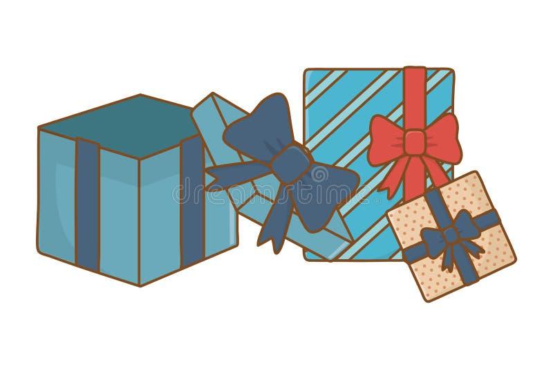 Het pictogram van giftdozen royalty-vrije illustratie