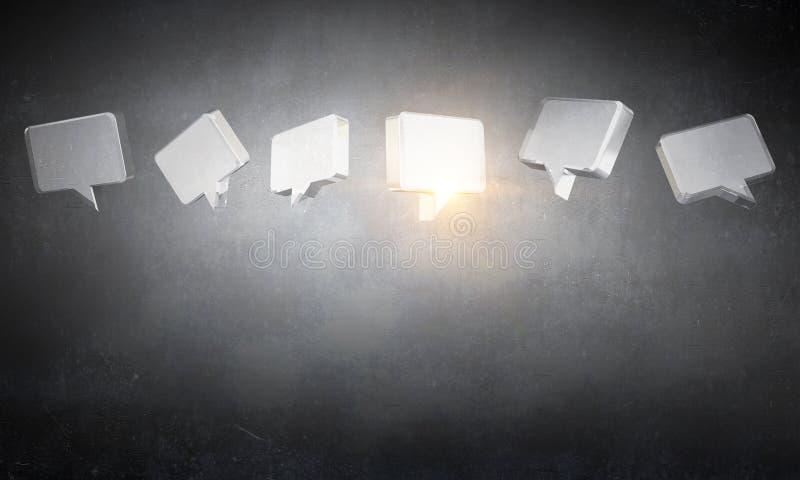 Het pictogram van het glaspraatje stock foto's