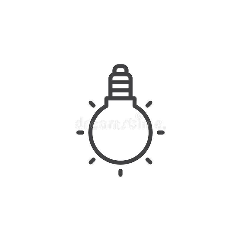 Het pictogram van het gloeilampenoverzicht stock illustratie