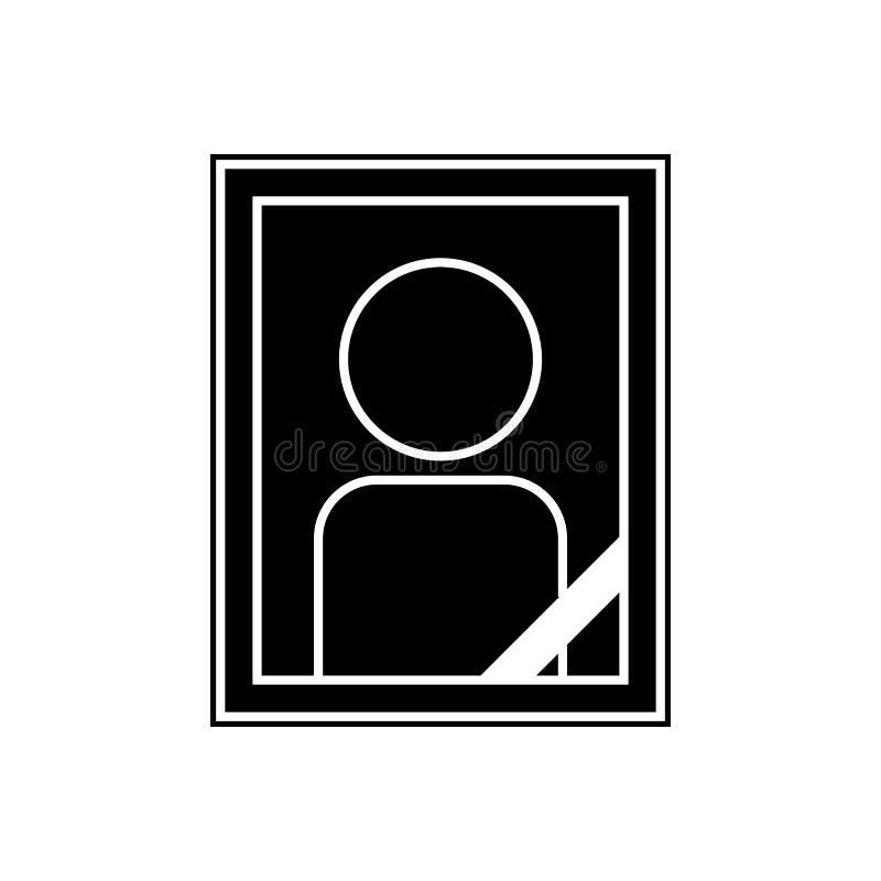 het pictogram van het grafsteenbeeld Element van Cityscape voor mobiel concept en webtoepassingenpictogram Glyph, vlak pictogram  vector illustratie