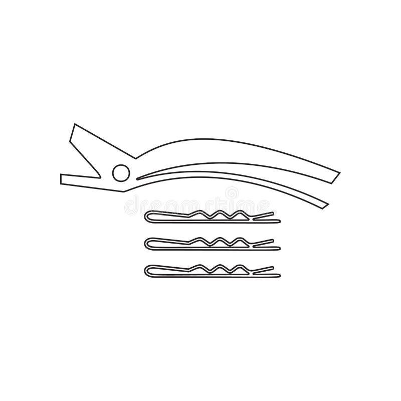 het pictogram van haarklemmen Element van Schoonheidssalon voor mobiel concept en webtoepassingenpictogram Overzicht, dun lijnpic vector illustratie