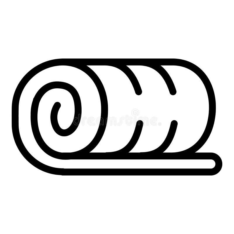 Het pictogram van het handdoekbroodje, overzichtsstijl royalty-vrije illustratie