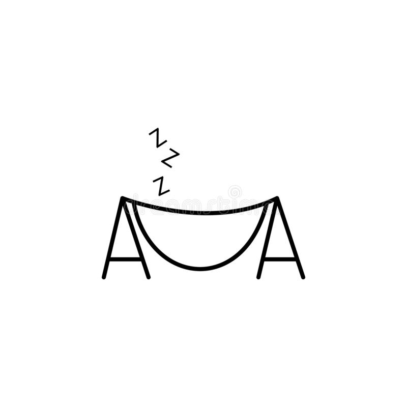 het pictogram van het hangmatoverzicht Element van het pictogram van het de zomerkamp Het grafische ontwerp van de premiekwalitei stock illustratie