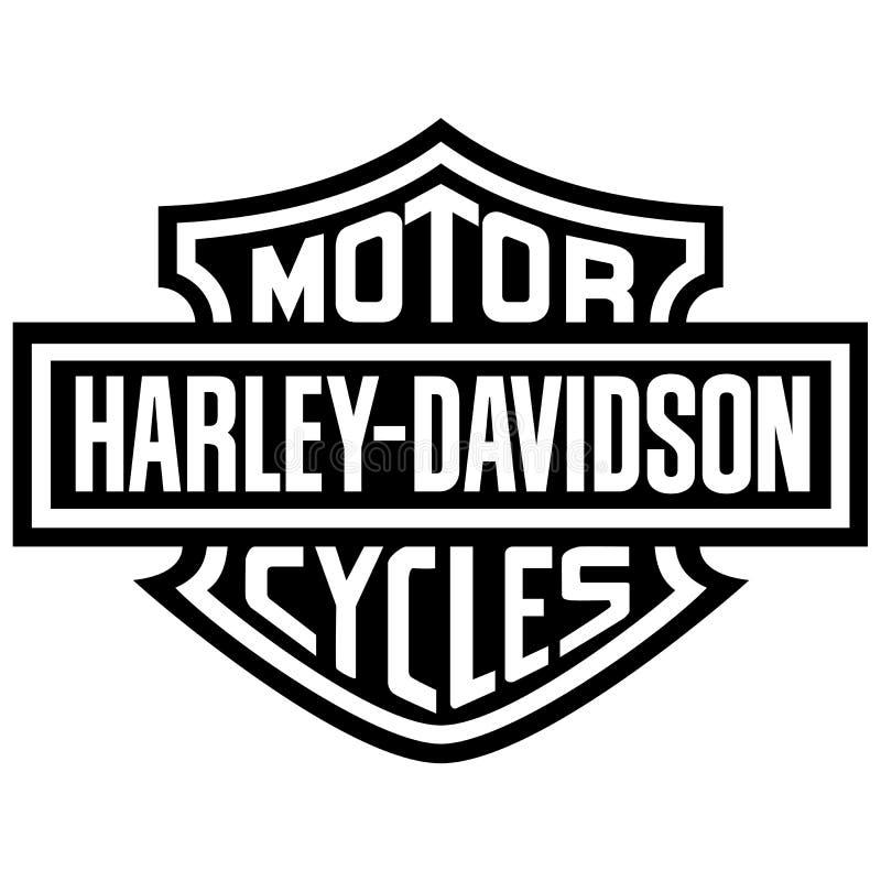 Het pictogram van het Harley davidson embleem royalty-vrije illustratie