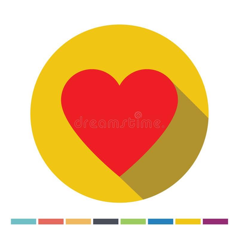 Het Pictogram van het hart vector illustratie