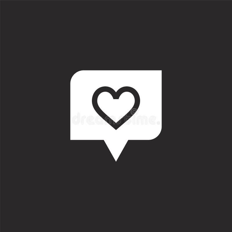 Het Pictogram van het hart Gevuld hartpictogram voor websiteontwerp en mobiel, app ontwikkeling het hartpictogram van gevuld kopp stock illustratie