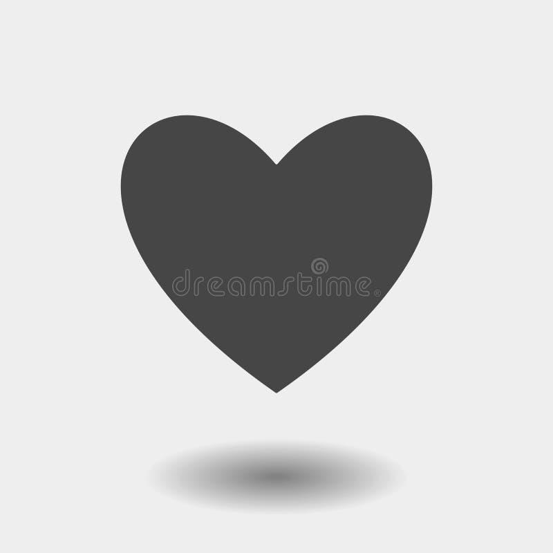 Het Pictogram van het hart Vlak die liefdesymbool op witte achtergrond wordt geïsoleerd In Internet-concept Modern teken voor vector illustratie