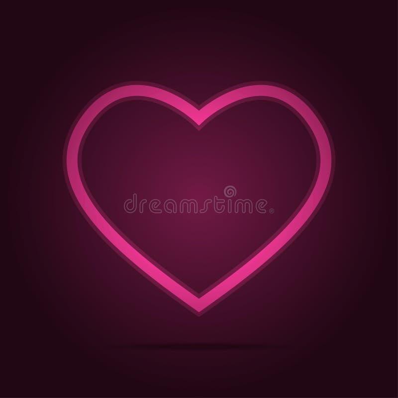 Het pictogram van het hartsymbool met roze schetste en verdwijnt opaciteit langzaam vector illustratie
