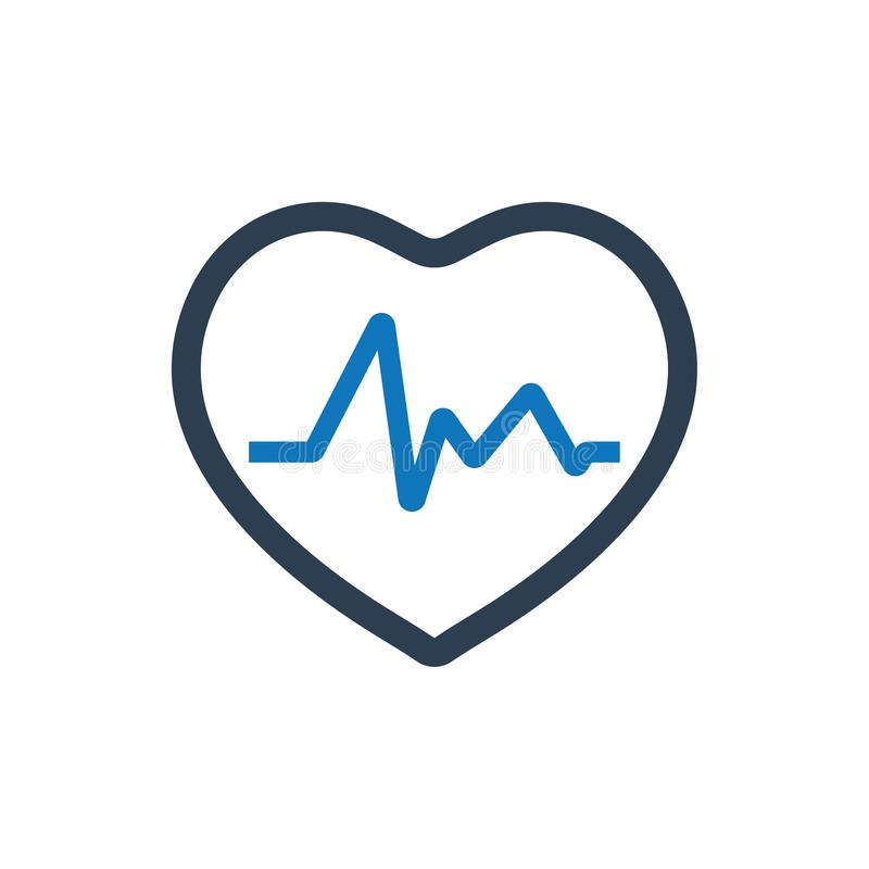 Het pictogram van het harttarief vector illustratie