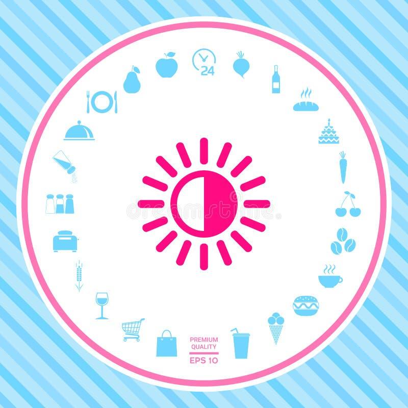 Het pictogram van het helderheidssymbool royalty-vrije illustratie
