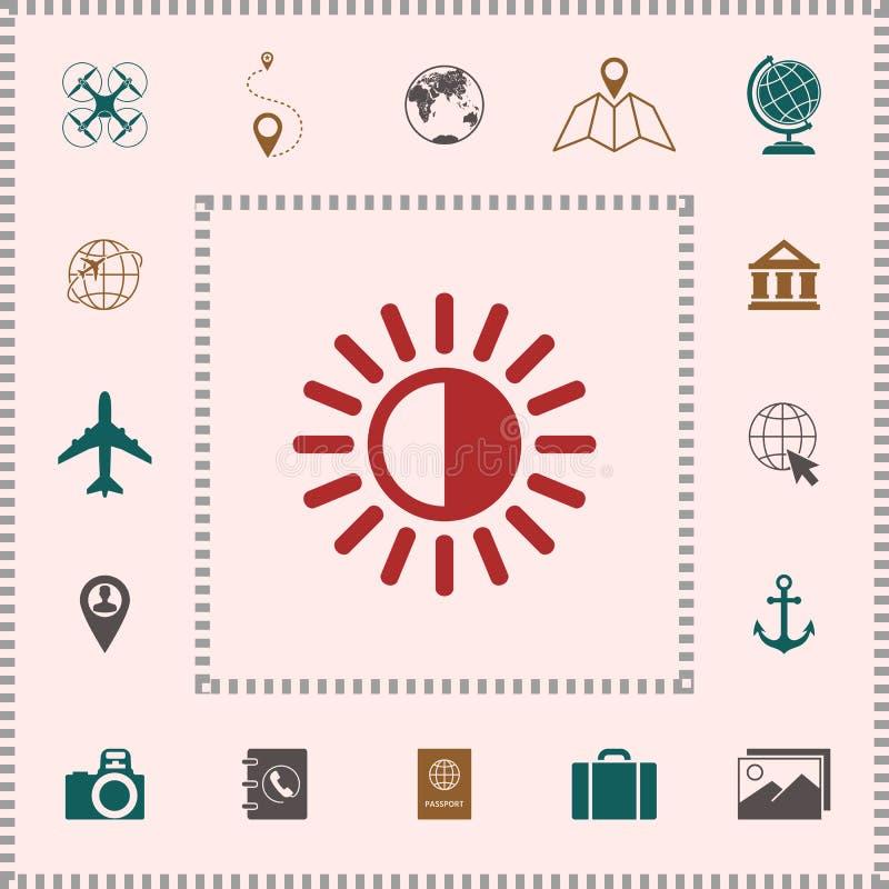 Het pictogram van het helderheidssymbool stock illustratie