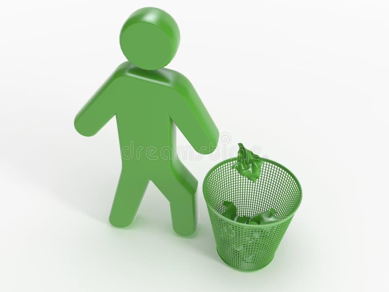 Het pictogram van het afval royalty-vrije illustratie