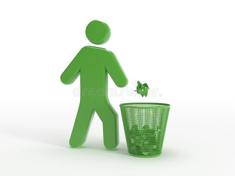 Het pictogram van het afval stock illustratie
