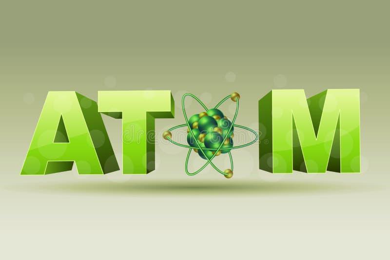 Het pictogram van het atoom stock illustratie