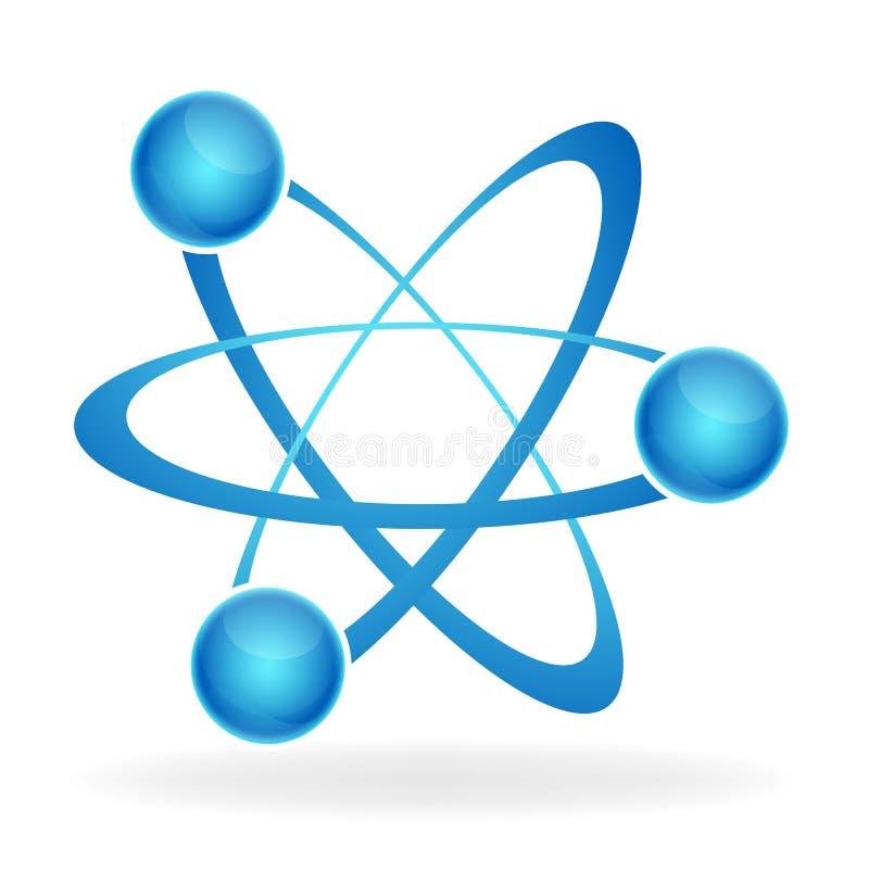 Het pictogram van het atoom royalty-vrije illustratie