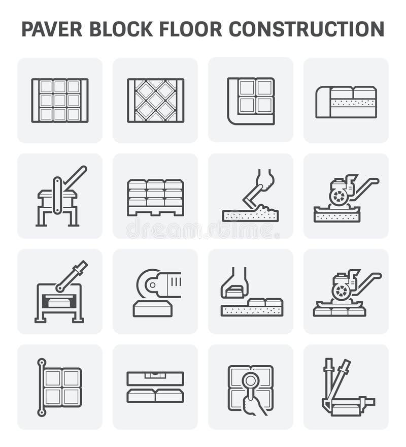 Het pictogram van het betonmolenblok royalty-vrije illustratie